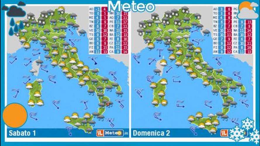 Previsioni meteo del fine settimana 1 e 2 febbraio