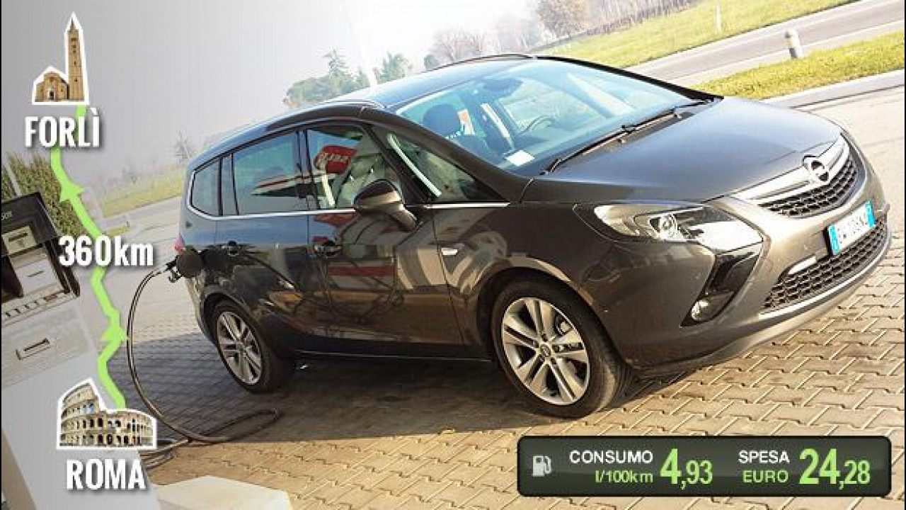 [Copertina] - Opel Zafira Tourer 1.6 CDTI, la prova dei consumi reali