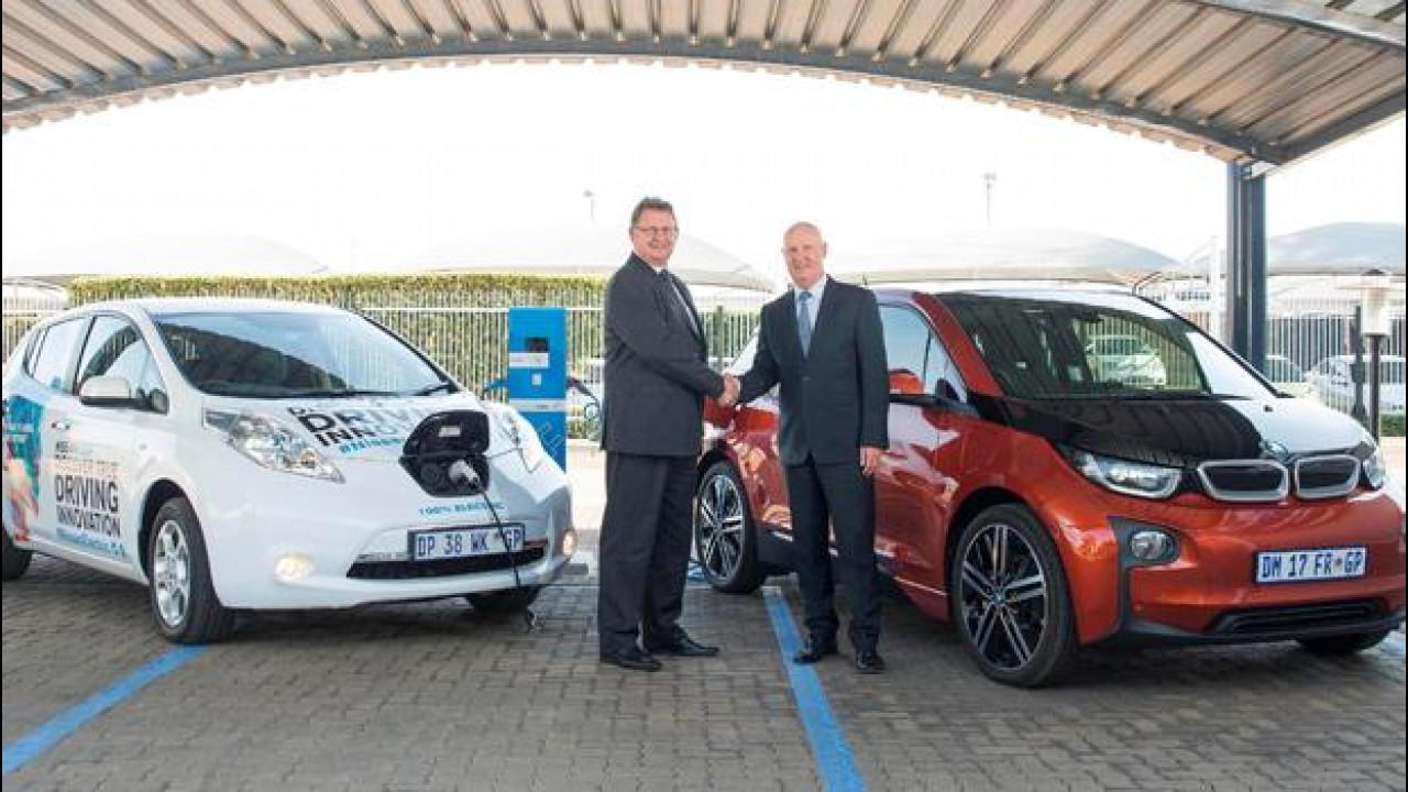 [Copertina] - Auto elettrica, Nissan e BMW alleate in Sudafrica