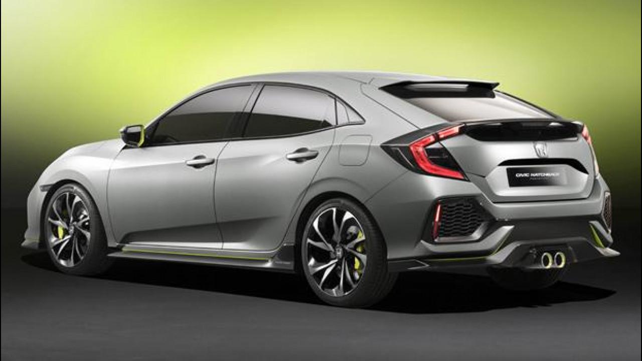 [Copertina] - Nuova Honda Civic berlina prototipo, la decima è sportiva