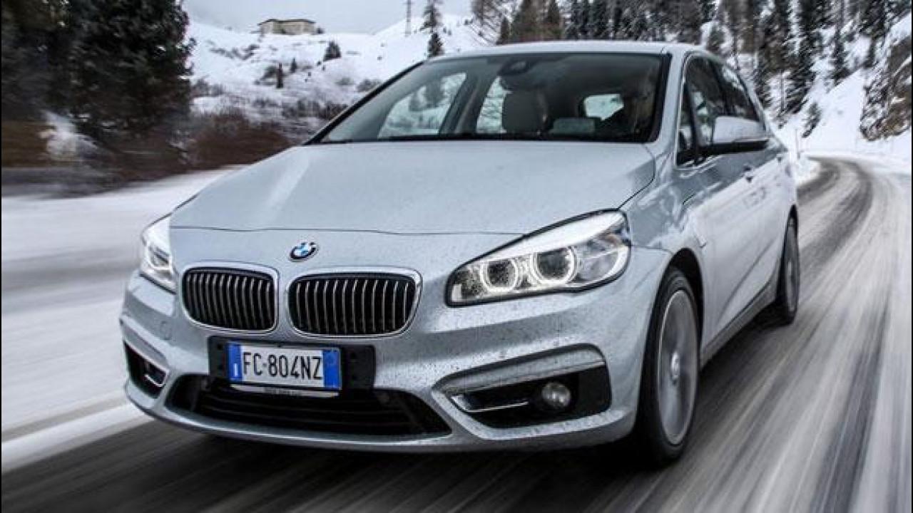 [Copertina] - BMW 225xe, l'ibrida plug-in integrale che non teme la neve