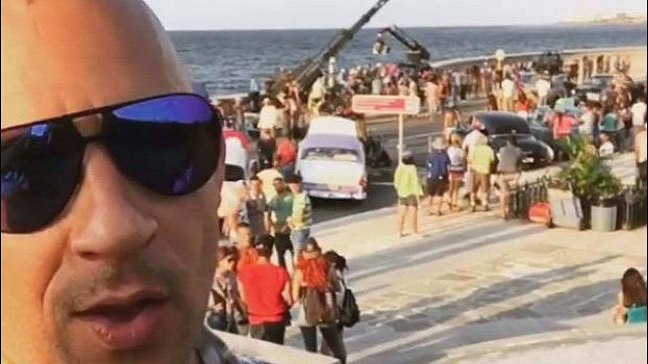 [Copertina] - Fast and Furious 8, Vin Diesel sul set a Cuba [VIDEO]
