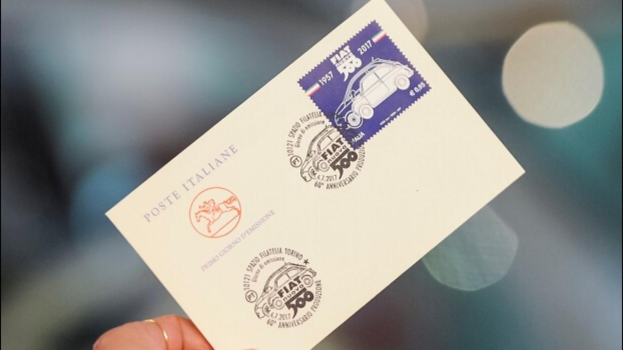 [Copertina] - Fiat 500, un francobollo celebra i suoi primi 60 anni