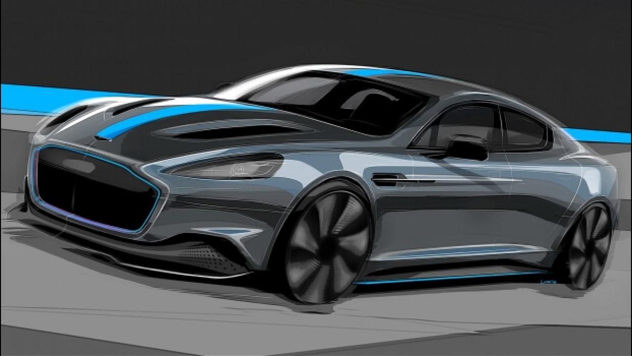 [Copertina] - Aston Martin RapidE, confermata l'elettrica per il 2019