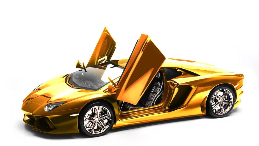 Gold Lamborghini Aventador LP700-4 scale model to fetch €3.5m at auction