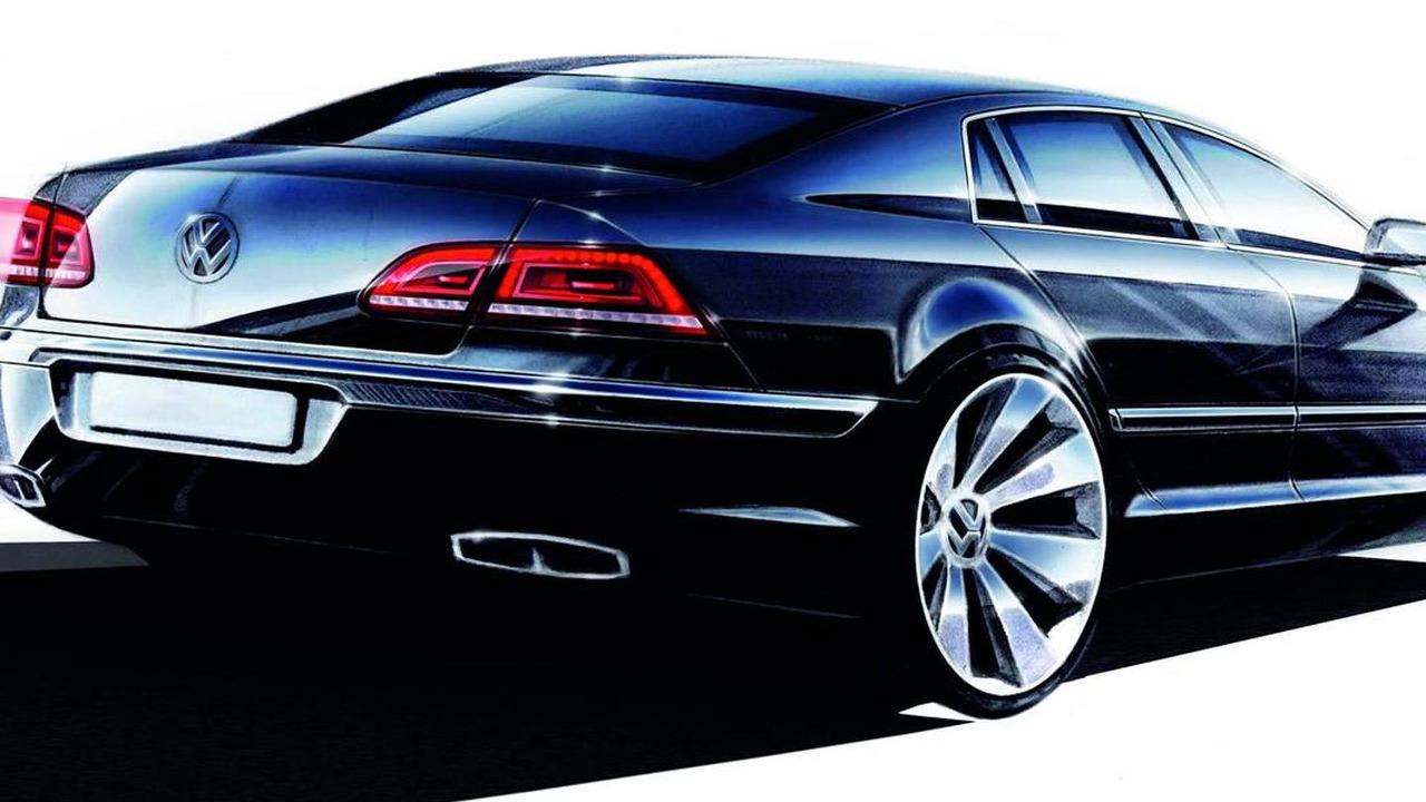 2011 Volkswagen Phaeton Facelift design sketch