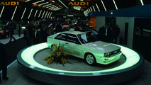 In March 1980, a sporty coupé with four-wheel-drive on the Audi stand caused a great sensation at the Geneva Motor Show: Audi quattro.