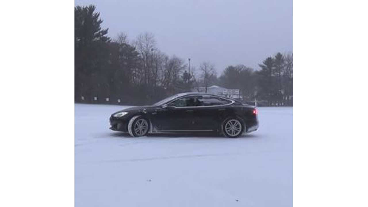 Model S on the Snow