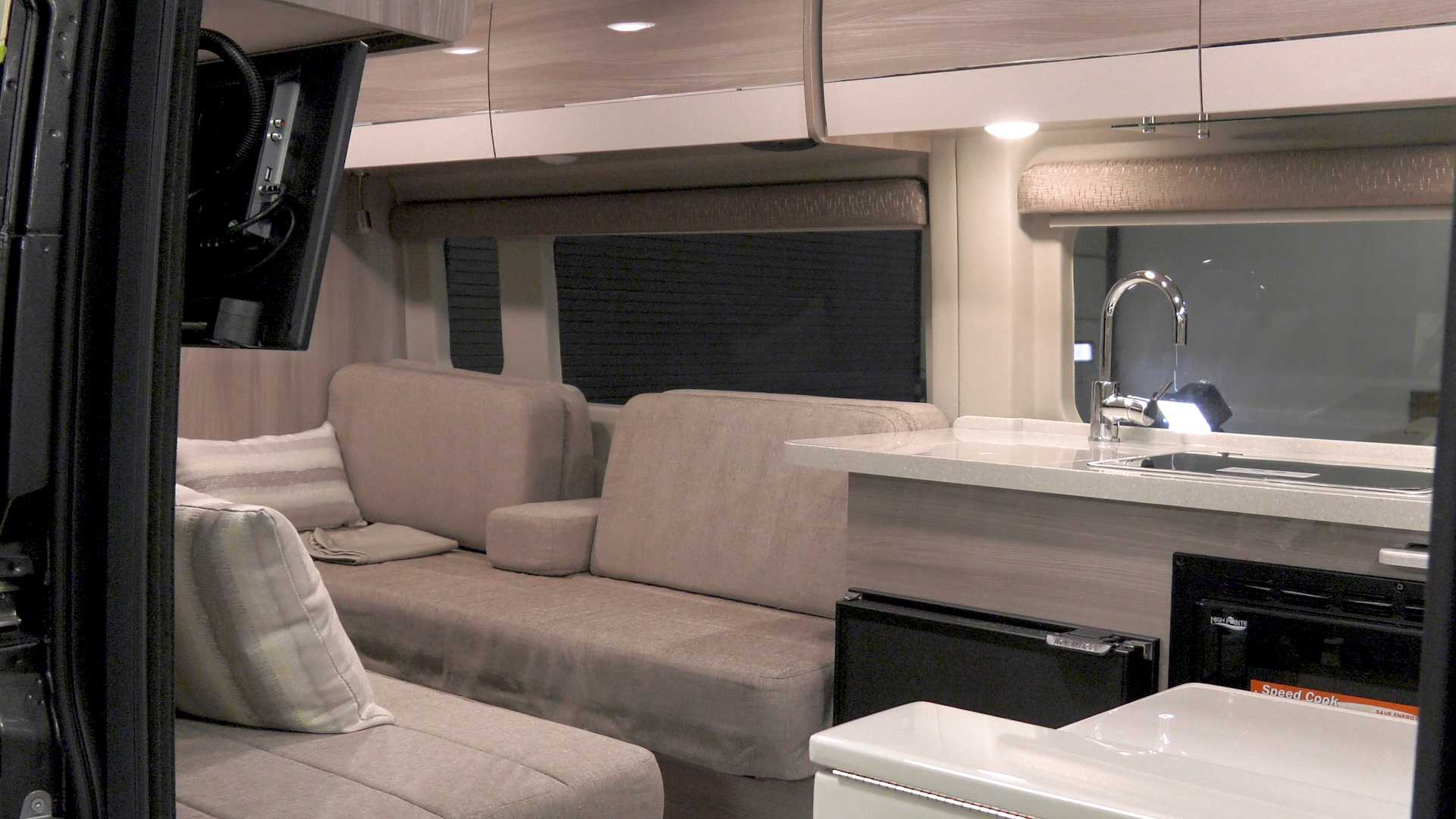 Thor Sequence Camper Van Concept Has A Slide Out Dog Bowl