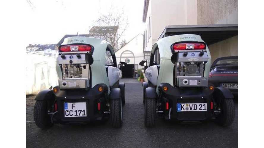 Renault Twizy Serves as Mobile Come-to-You Espresso Store in Germany