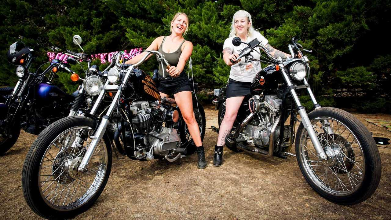 Two Aussie Bike Babes at the Sheilas Shakedown