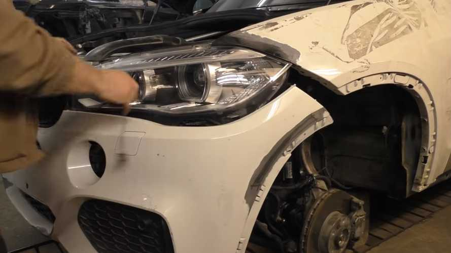 Timelapse Video Of Wrecked BMW X5 Getting Fixed Is Soothing