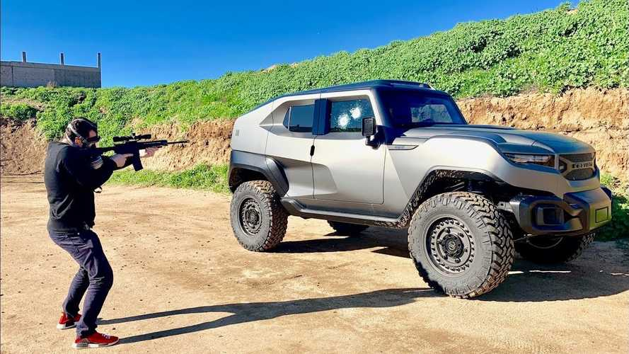 Rezvani Tank Bulletproof Windows Put To The Test