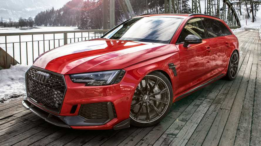 Tuned Audi RS4+ Avant has some fun in the Alps