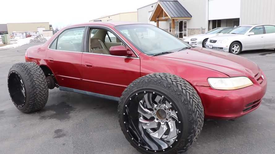 Honda Accord with huge off-road tyres defies logic