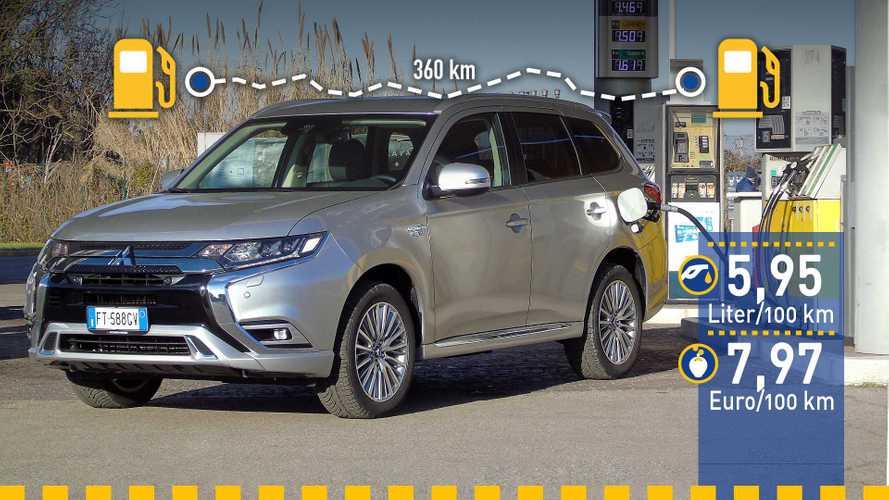 Tatsächlicher Verbrauch: Mitsubishi Outlander Plug-in-Hybrid im Test