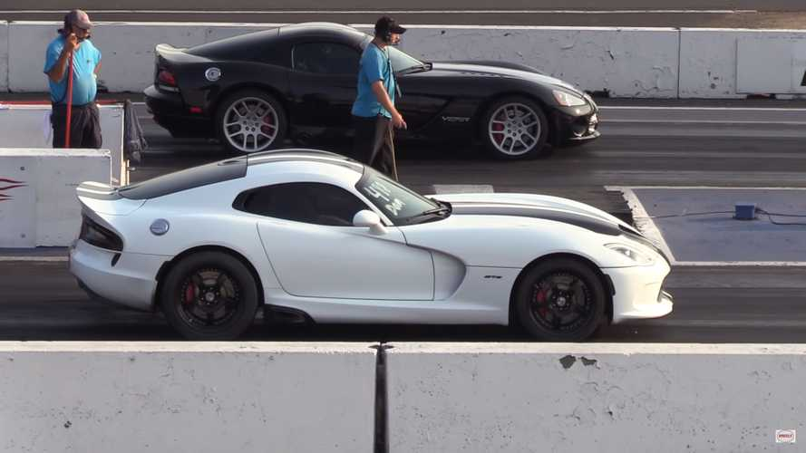Watch Dodge Viper GTS And SRT-10 Throw Down At The Drag Strip