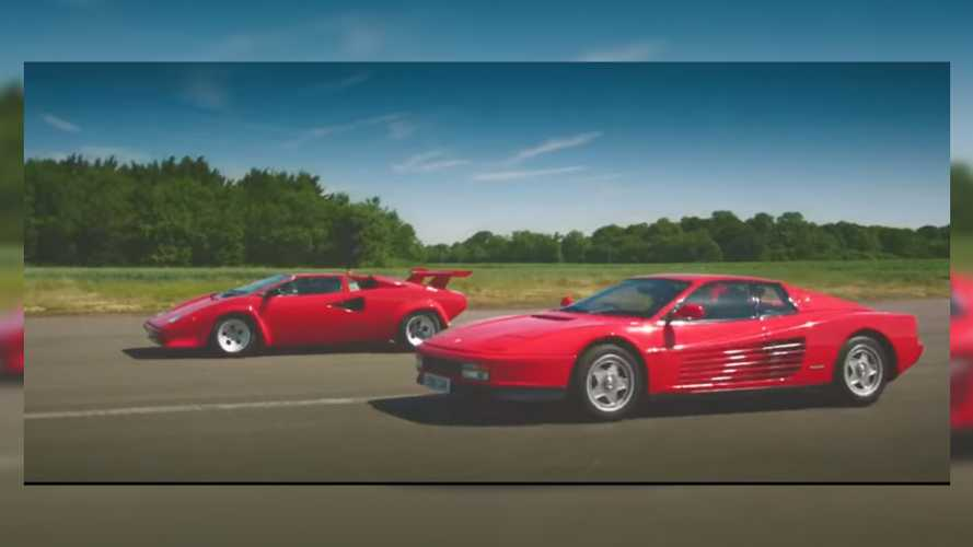 The Grand Tour's Countach Vs Testarossa Drag Race Is '80's Bliss