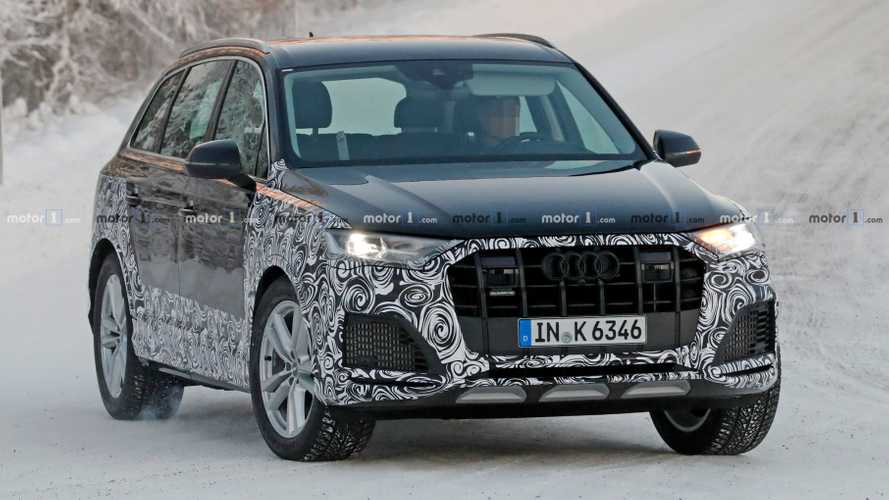 2020 Audi Q7, SQ7 SUV Facelift Spied In 44 Snowy Photos
