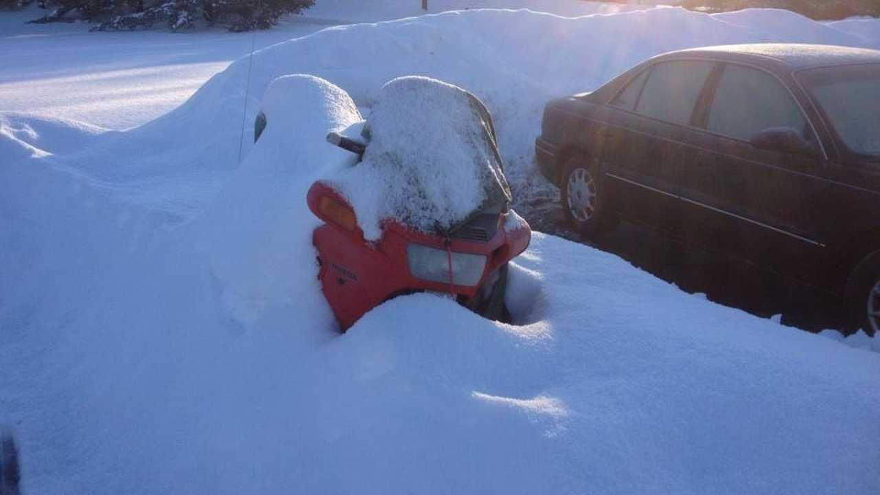 PC800 Buried In Snow