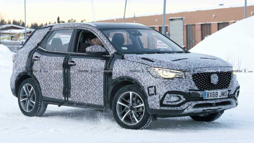 MG X-Motion SUV spied first time with UK plates and RHD