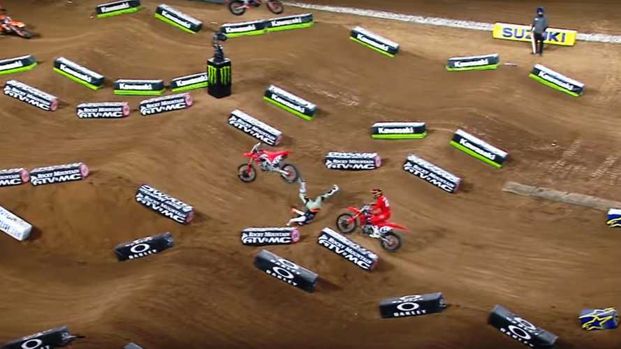 Malcolm Stewart Crash Halts Glendale Supercross Race