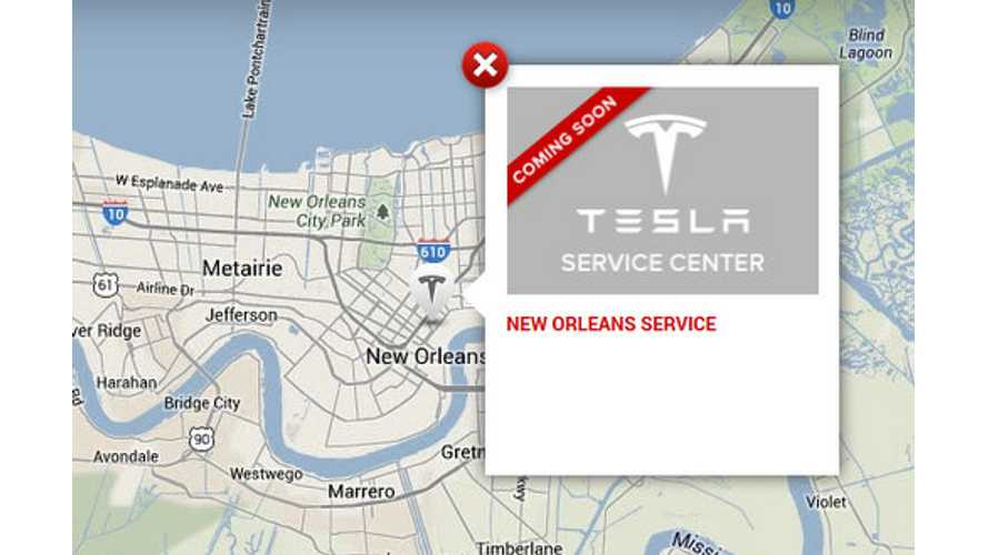 Tesla Service Center To Open In New Orleans