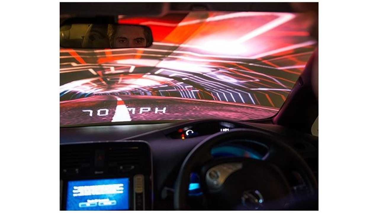 Projection Artworks Creates Virtual Driving Experience For Nissan LEAF - Video