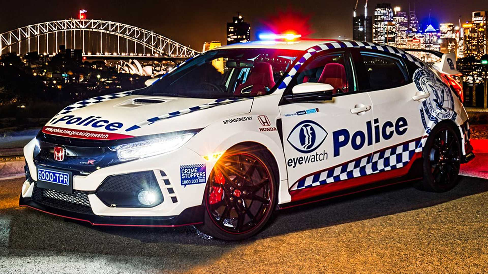 Honda Civic Type R enlists with Police in Australia