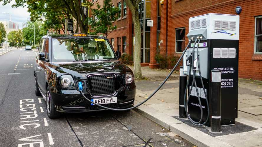 Electric London Black Cab charging in Coventry UK