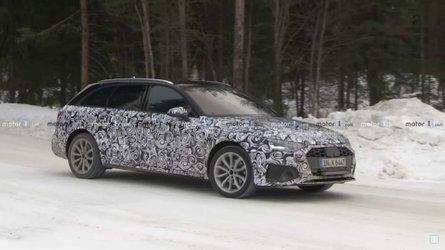 Audi A4 Avant facelift caught on video strutting its stuff