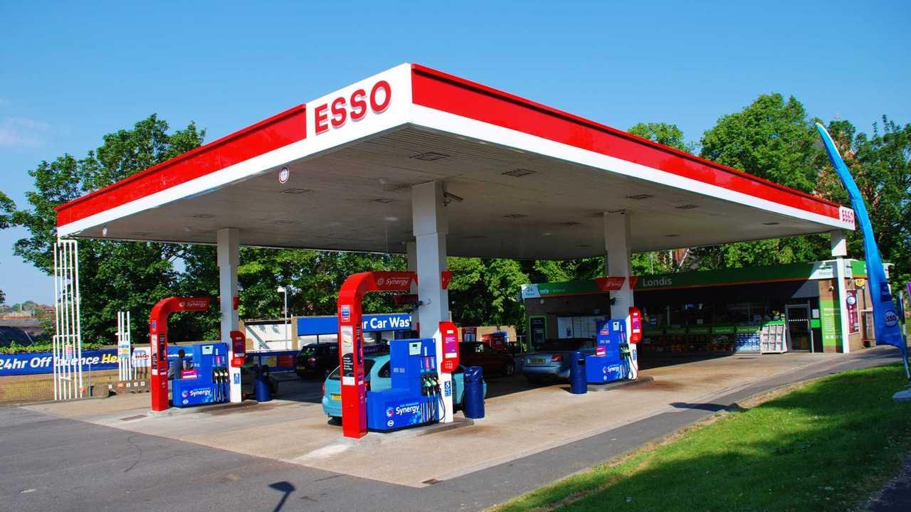 Esso petrol filling station in St Leonards-On-Sea UK