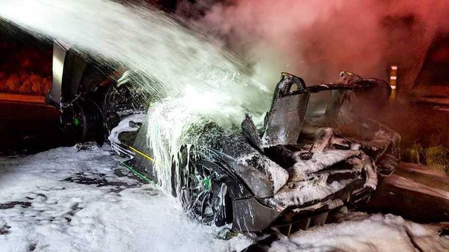 Une McLaren Senna victime d'un incendie