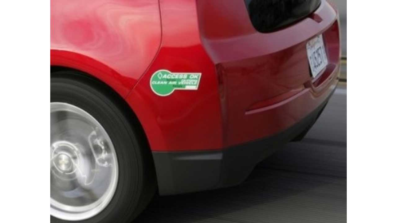 Only 3,770 Green High Occupancy Vehicle Stickers Left In California