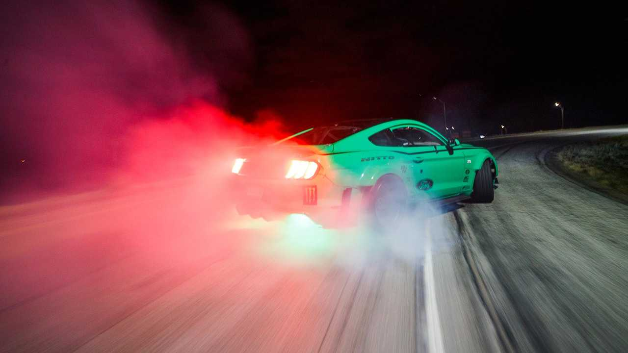 Vaughn Gittin Jr. Drifts Four-Leaf Clover Interchange