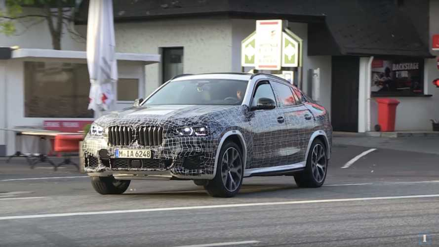Nuova BMW X6, video e foto spia durante i collaudi