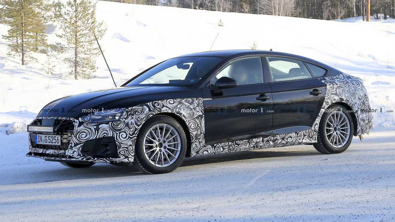 2020 Audi A5 Sportback facelift spy photo