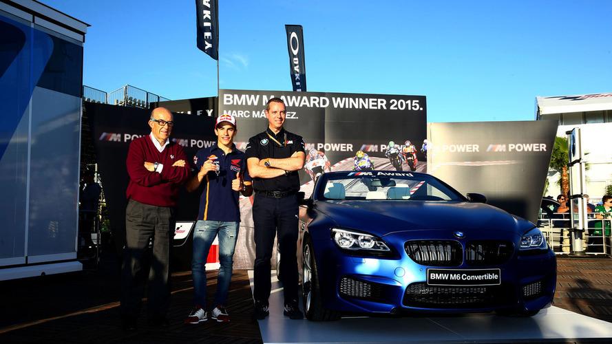 2015 MotoGP best qualifier Marc Marquez wins a bespoke BMW M6 Convertible