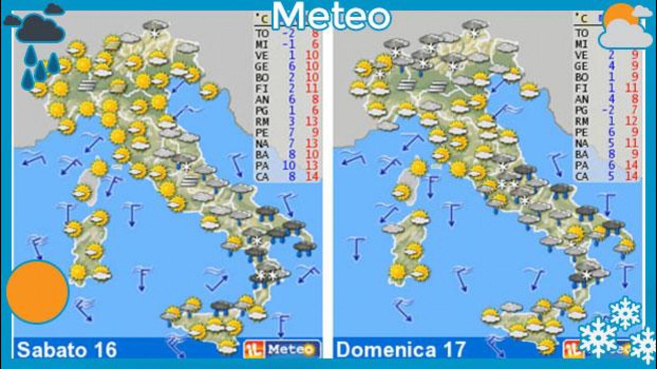 [Copertina] - Meteo del fine settimana 16-17 febbraio: tempo instabile su tutta la Penisola