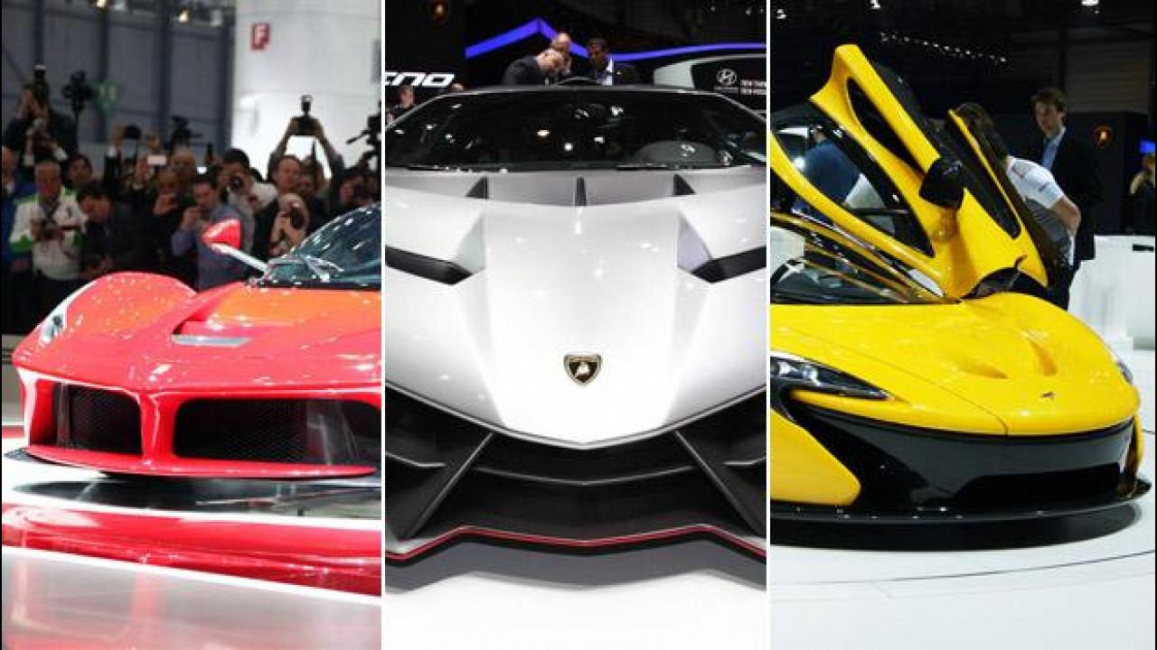 [Copertina] - Salone di Ginevra: sfida Ferrari-Lamborghini-McLaren