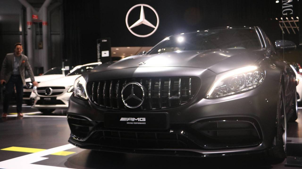 Mercedes-AMG C63 2019 года на автосалоне в Нью-Йорке 2018 года