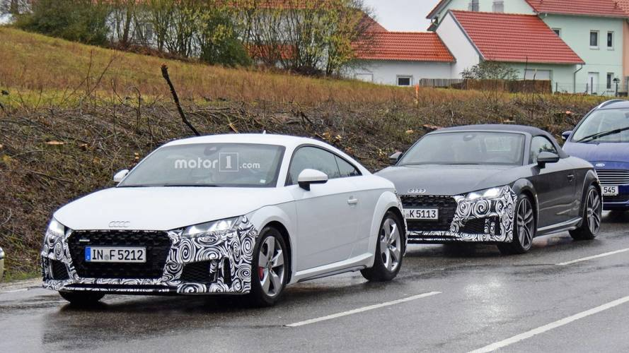Audi TTS Refreshed Spy Photos
