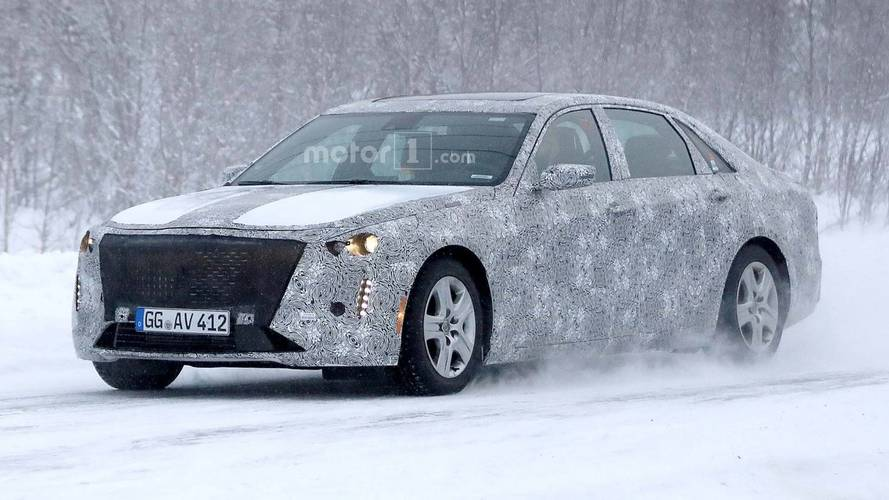 2019 Cadillac CT6 Sedan Facelift Spied Speeding In Snow