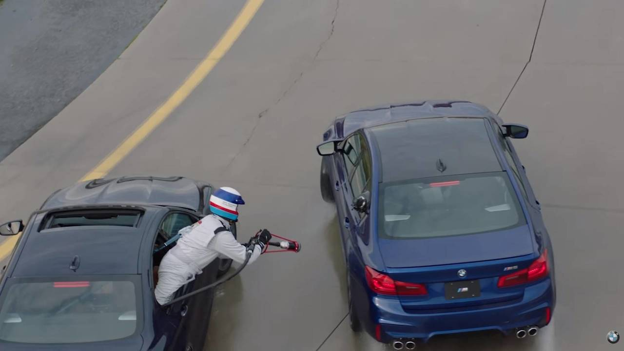 BMW M5 car-to-car refueling