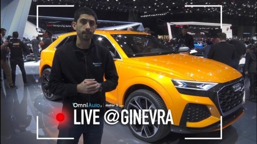 Salone di Ginevra, Audi Q8 concept sport dal vivo [VIDEO]