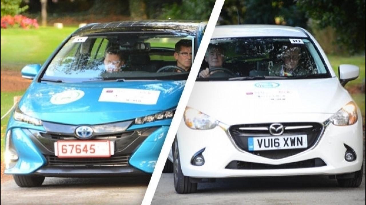 [Copertina] - Mazda2 e Toyota Prius Plug-in, consumi record alla MPG Marathon