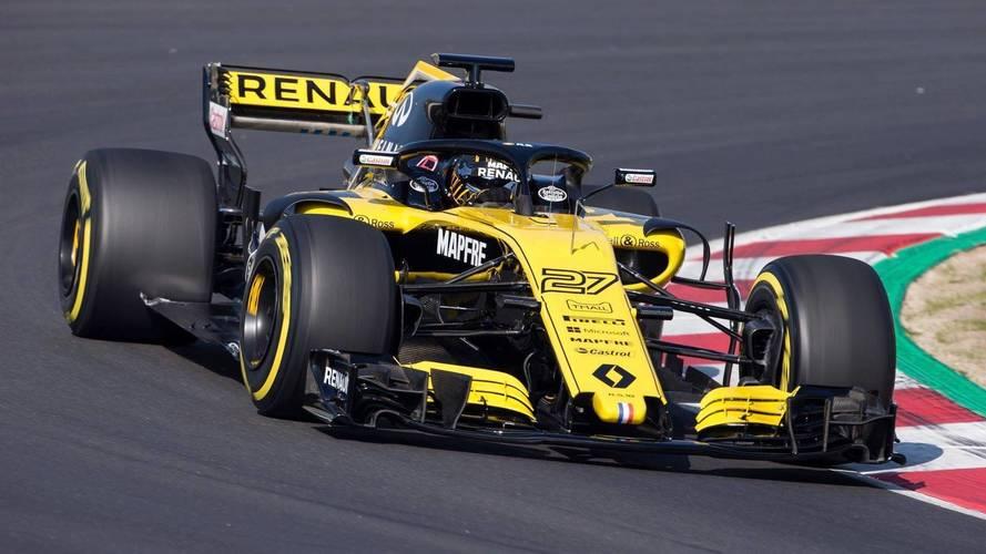 Premiers tours de roue pour la Renault R.S.18 à Barcelone