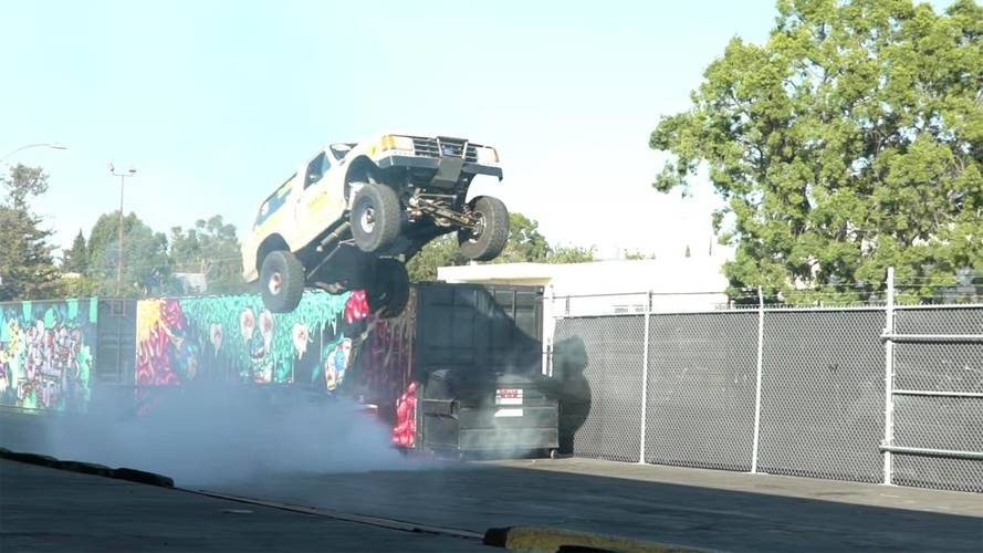 Watch This Ford Bronco Get Crazy Air And Land Safely
