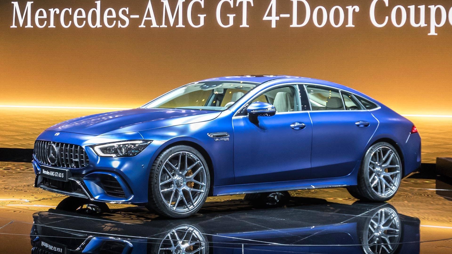 2019 mercedes amg gt 4 door coupe storms geneva with 630 hp