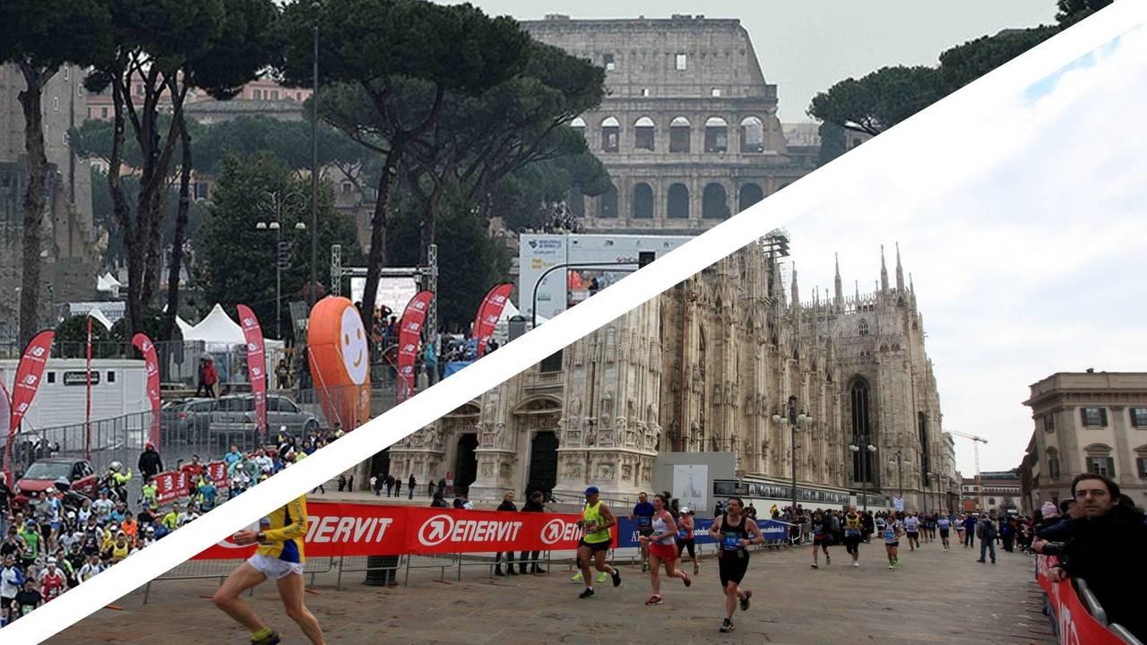 maratone milano e roma